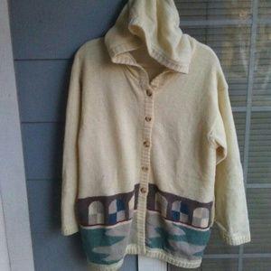Wool lined hoodie sweater